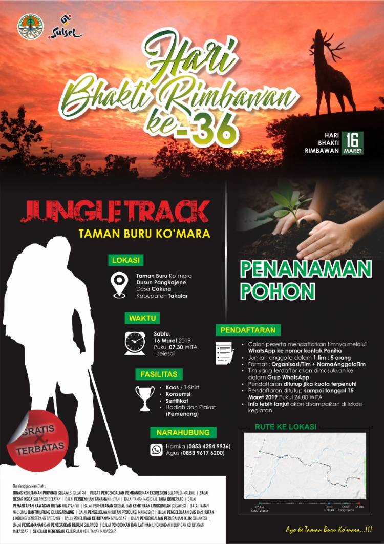 Jungle Track di  Hari Bakti Rimbawan